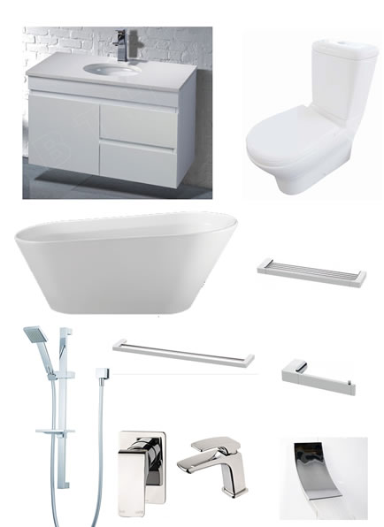 Luxury bathroom renovation package