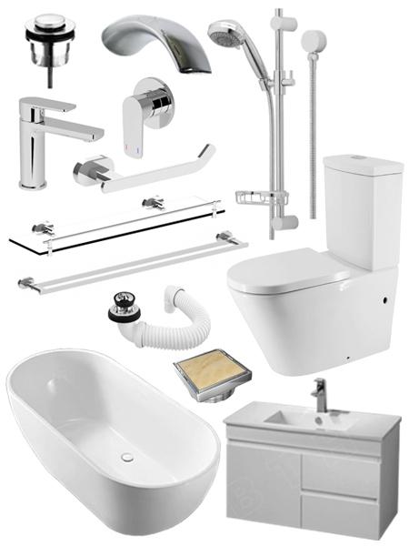 Luxury bathroom renovation package