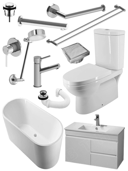 Stylish bathroom renovation package